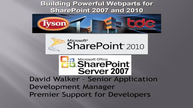Building Powerful WebParts with SharePoint 2007 and 2010 and easily support both versions!