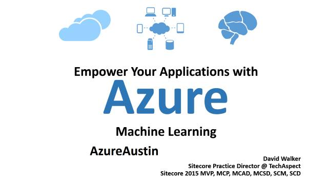 Empower Your Applications with Azure Machine Learning