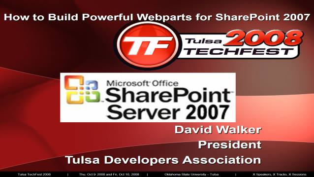 Building Powerful Webparts for SharePoint 2007