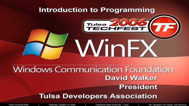 Intro to Programming Windows Communication Foundation