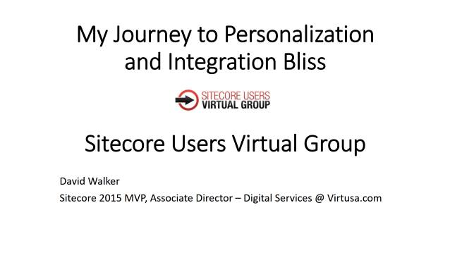 My Journey to Personalization and Integration Bliss