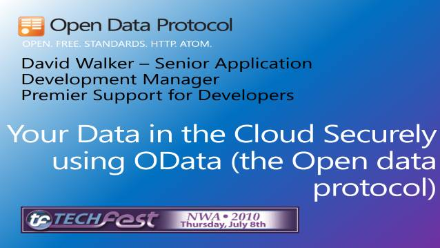 Your Data in the Cloud Securely using OData (The Open Data Protocol)